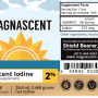 Iodine Label Supplement Facts