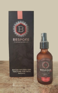 Bespoke Product 200 - Bacon CBD Tincture for Pets box and bottle small