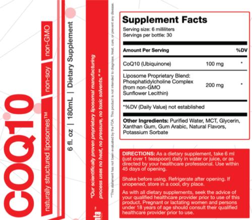 liposomal-coq10 Supplement Facts
