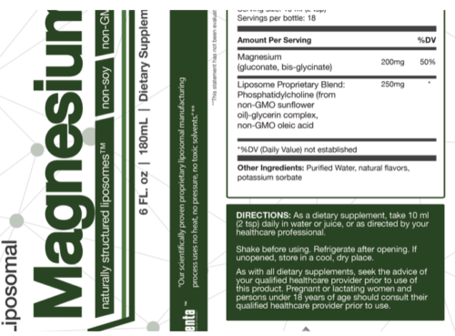 liposomal-magnesium-Suppement-Facts
